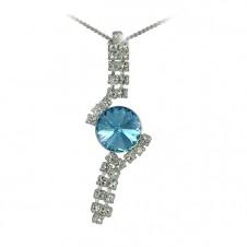 8. Štrasový náhrdelník Rivoli Aquamarine