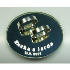 3. Strieborné snubné prstene